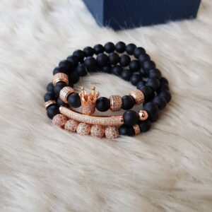 Black matte rose gold bracelet