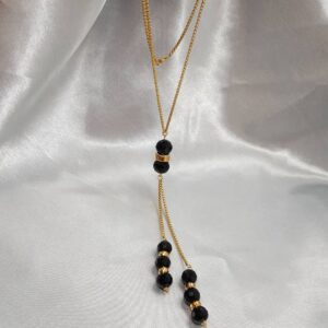 Long dressing chain black
