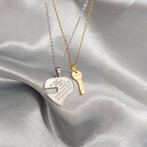 Silver and gold necklaces