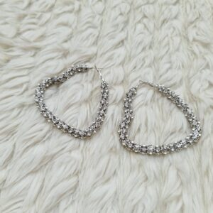 Statement love shaped earrings