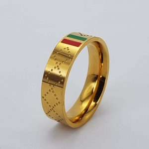 Gold dotted Gucci ring