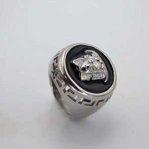 silver Versace ring